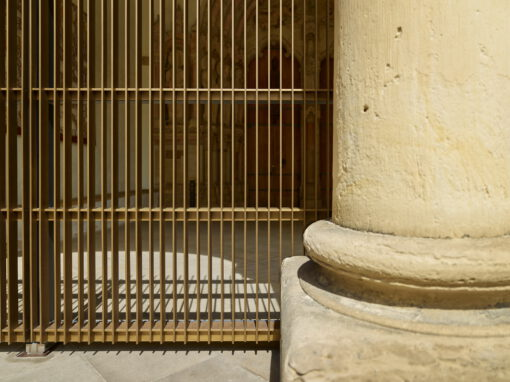 Gitteranlage am Paradies des Dom zu Paderborn
